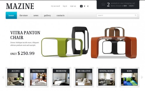 Mazine WordPress Theme - WP E-Commerce Theme