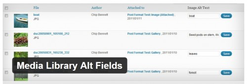 Media Library Alt Fields