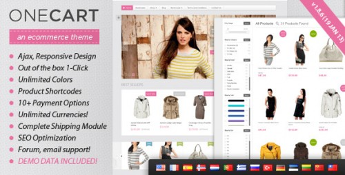OneCart - Ajax Responsive E-Commerce WP Theme