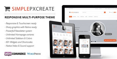 Simplepxcreate - eCommerce Theme