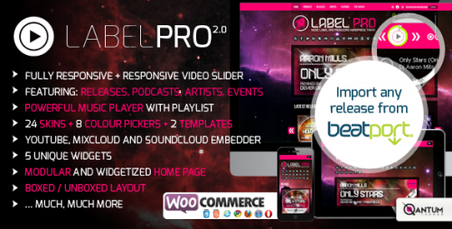 Music Label Pro - Responsive Music WordPress Theme