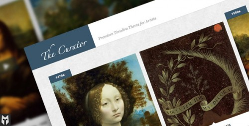 The Curator: Premier Timeline Theme for Artists