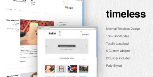 Timeless - Minimal Typographic WP Theme