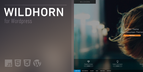 Wildhorn - Full Screen, Responsive & Retina Theme