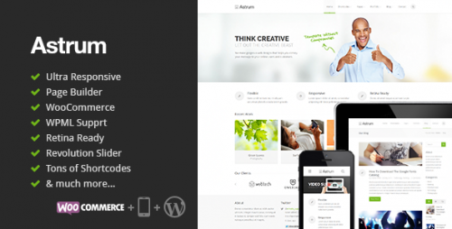 Astrum - Responsive Multi-Purpose WordPress Theme