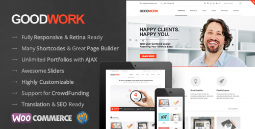 GoodWork - Modern Responsive WordPress Theme