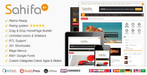 Sahifa - Responsive WP News,Magazine,Blog