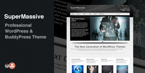 SuperMassive - Professional WP BuddyPress Theme