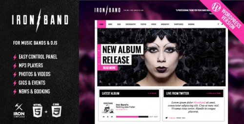 IronBand - Responsive Music & DJ WP Theme