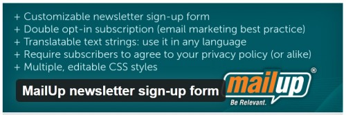 MailUp Newsletter Sign-up Form