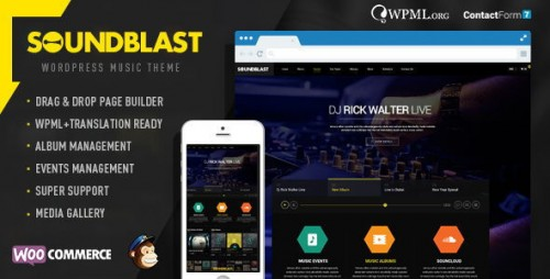 SoundBlast - Music Band WordPress Theme