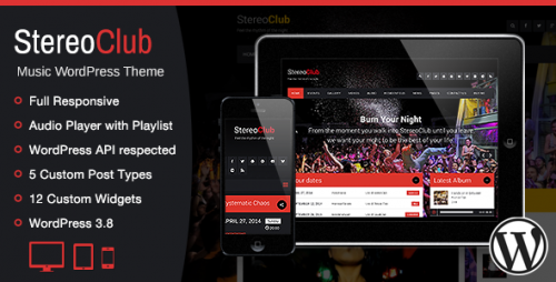 StereoClub, NightClub & Band WordPress Theme