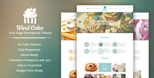 WindCake - OnePage WordPress Theme