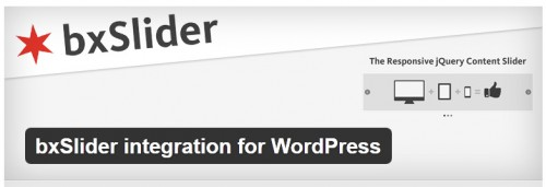 bxSlider Integration for WordPress