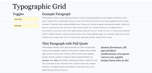 Typographic Grid