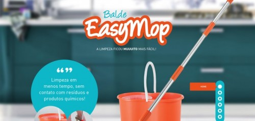 Balde Easymop - single page website designs