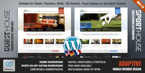Guesthouse - Hotel & Sport Center Premium Theme