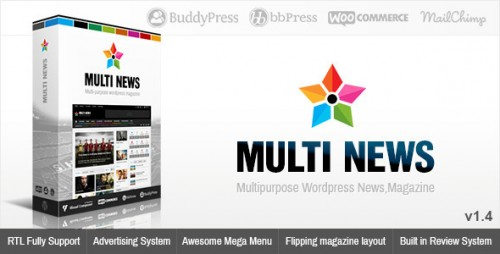 Multinews - Multi-purpose WordPress News, Magazine Theme