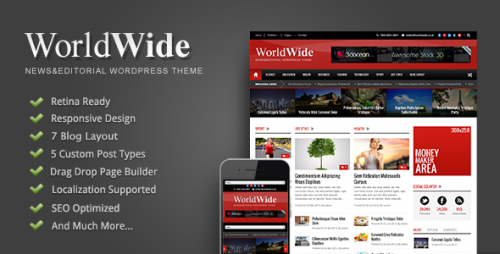 World Wide - Responsive Magazine WP Theme