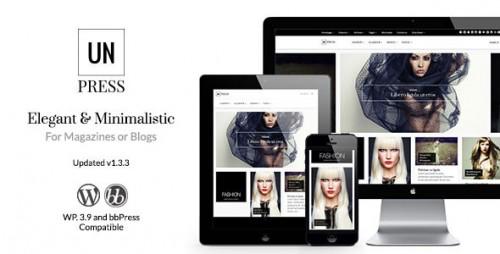 unPress Magazine - Elegant & Minimalistic WP Theme