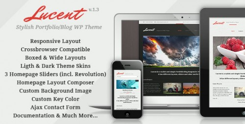 Lucent - Responsive Portfolio, Blog WordPress Theme