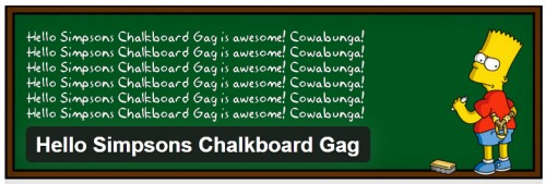 Hello Simpsons Chalkboard Gag
