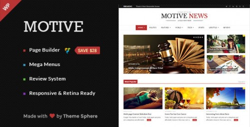 Motive - Magazine, News, Blog WordPress Theme