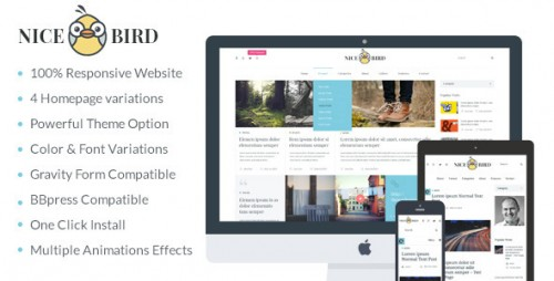 NiceBird - Blog and Newspaper WordPress Theme