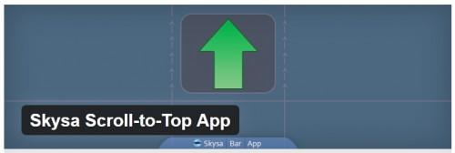 Skysa Scroll-to-Top App