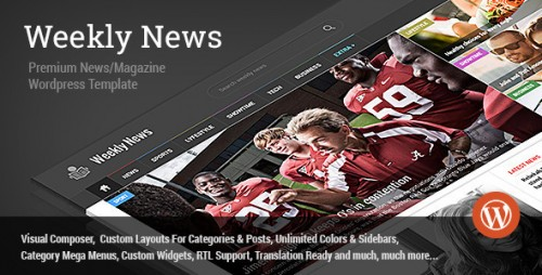 WeeklyNews - Premium WordPress News/Magazine Theme