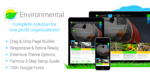 Environmental - Responsive WordPress Theme