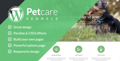 Pet Care Dog Kennels WordPress Themes