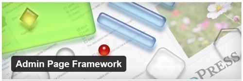 Admin Page Framework