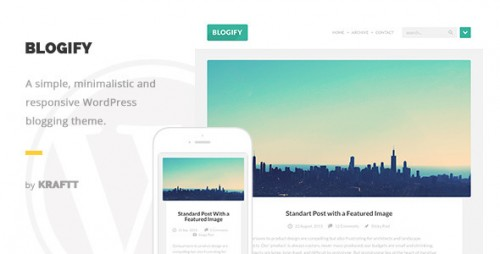 Blogify - Flat Responsive WordPress Blog Theme