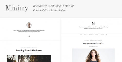 Minimy - Responsive Clean Personal & Fashion Blog Theme