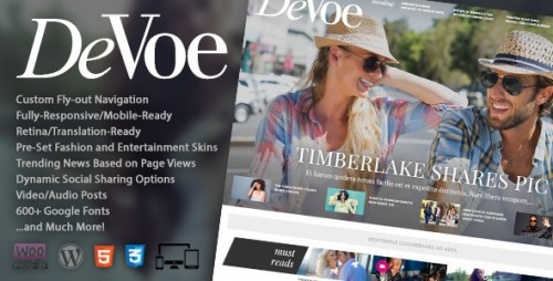 DeVoe - Fashion & Entertainment News Theme