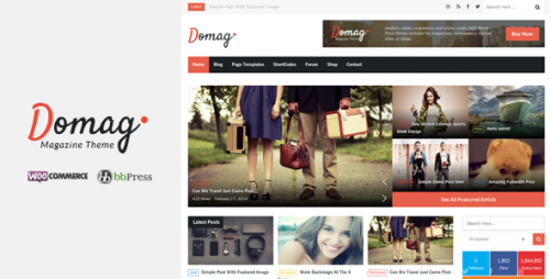 Domag Flat Retina WordPress Magazine Theme