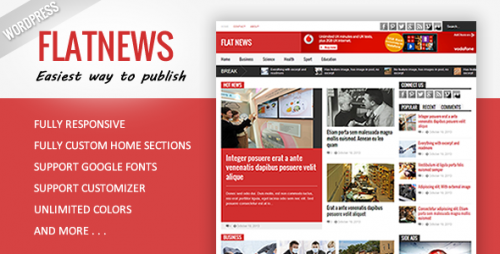 Flat News - Responsive Magazine WordPress Theme