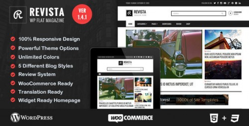 Revista - Flat Magazine WordPress Theme