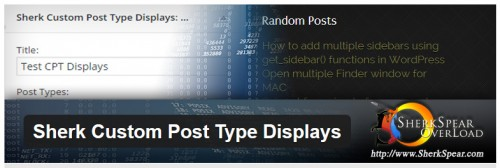 Sherk Custom Post Type Displays
