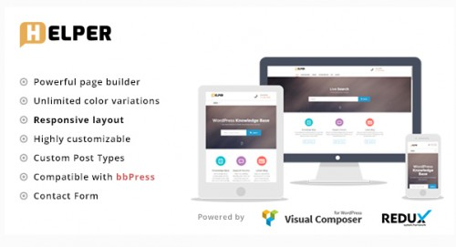 Helper - Knowledge Base, Support WordPress Theme