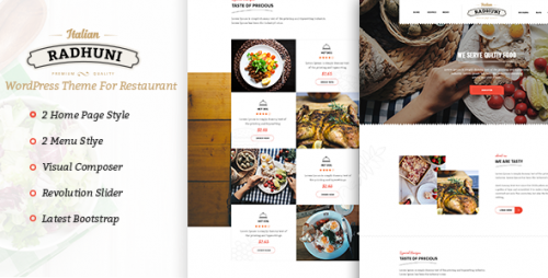 Italian Radhuni - Food & Restaurant WordPress Theme