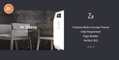 Za - Creative Fashion Portfolio WordPress Theme
