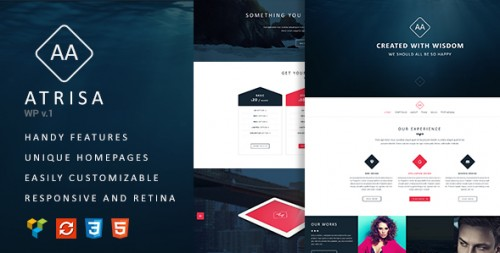 Atrisa - One Page, Multi-Purpose WordPress Theme