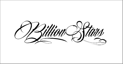 Billion Stars Personal Use Font